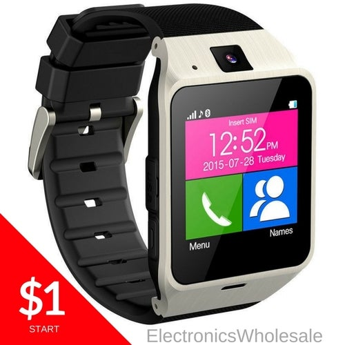 Bluetooth Smart Watch Phone + Camera For Android IOS Phones