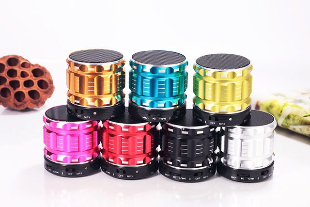 New Mini Wireless Bluetooth Speaker Super Bass Loudspeakers Support TF Card FM Radio For IOS Android Mobile Phone