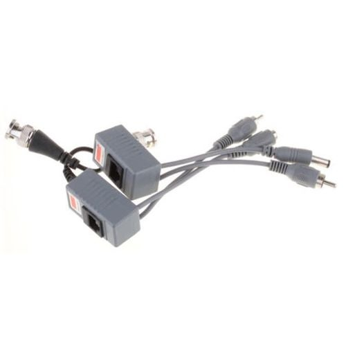 3in1 Cable BNC Coax CCTV RJ45 Balun w/Audio Video Power Over Transceiver Useful