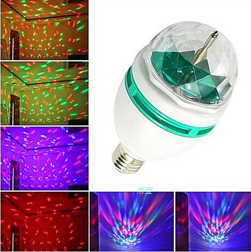 1 pcs E27 3W Colorful Auto Rotating RGB LED Bulb Stage Light Party Lamp Disco