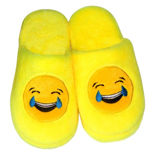 Cute Couple Emoji Expression Slippers Winter Warm Pajamas Home Indoor Shoes