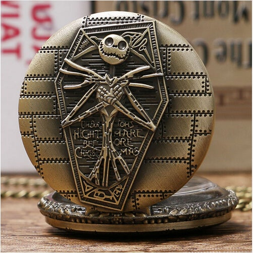 Free Shipping High Quality Burton's Nightmare Before Christmas Necklace Pendant Pocket Watch