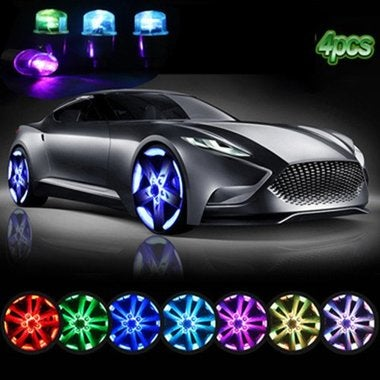 Hot Sale 4 Pair Colorful Lights Car Wheel Lights Alloy Double Sense Smart Car Wh