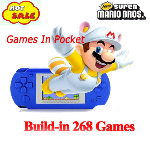 Portable Console Portable Video Game Handheld Player Built-in 268 Games Model 1100