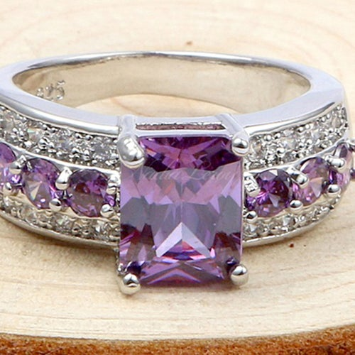 Exquisite Amethyst Sterling Silver 925 Ring