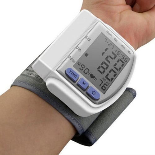 New Digital home Automatic Wrist Blood Pressure Pulse Sphygmomanometer and tonometer Monitor Heart Beat Meter
