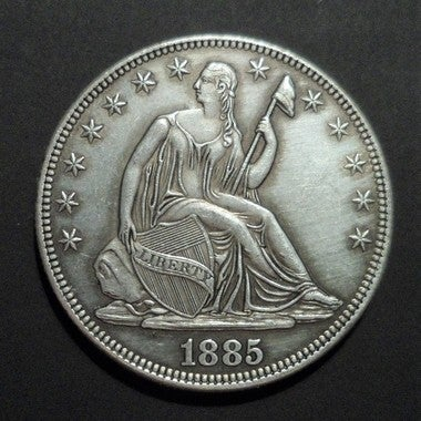 Replica 1885 Seated Liberty Silver Plated Half Dollar - Tribute Coin