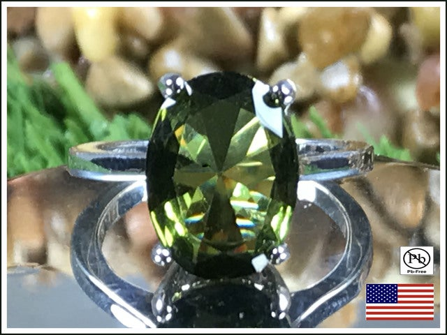CZ Beauty on Silver Overlay Ring. Size 7, 8 or 9.