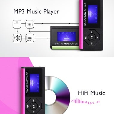Portable 0.9 inch Support 32G TF Card MP3 Music Lossless Player with Speaker