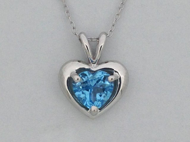 Natural Blue Topaz Pendant 925 Sterling Silver