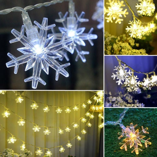 Snowflake 3M  20 led String Fairy Light Lamp Christmas Xmas Wedding Party Decor