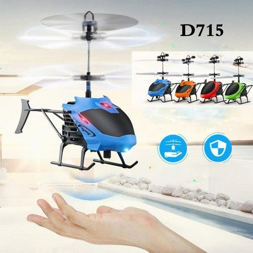 CN BRAND NEW 2018 RC Helicopter Gesture Induction Mini Drone Aircraft LED Flash Light Remote Control Toy Automatic Power Failure