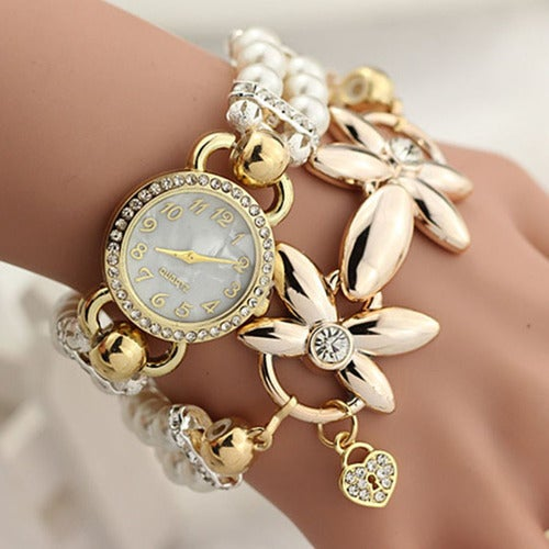 Women Luxury Gold Color Bracelet Watch