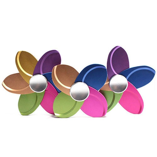 Creative Color Flowers Metal Fidget Hand Spinner EDC Kids Finger Gyro Desk Toys