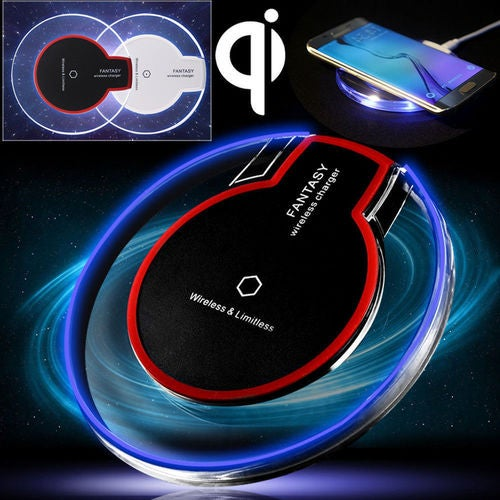 New Clear Qi Wireless Charger Fast Charging Pad for Samsung S8 Note8 S7 iPhone X&8