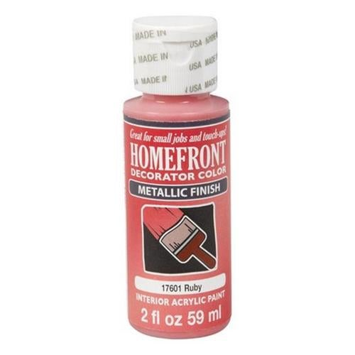 Homefront 17601 2 oz Ruby Metallic Decorator Color Acrylic Paint Pack Of 3