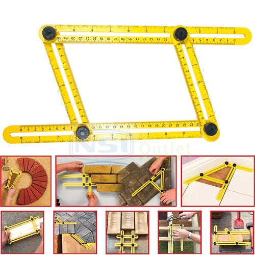 New Angleizer Template Tool - Measures All Angles and Forms Angle-izer for Handymen ,Builders, Craftsmen