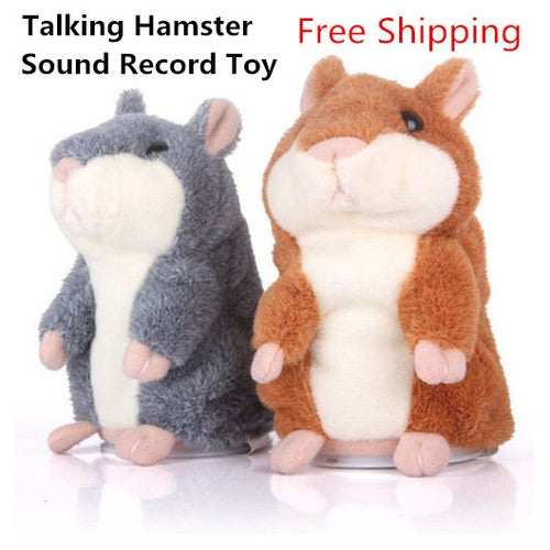 Free Shipping Great Gift for Christmas Lovely Talking Hamster Plush Toy Hot Cute Speak Talking Sound Record Toy-Great Gift for Family