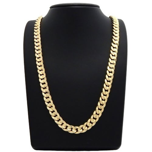 Amazing  18k Yellow Gold Plated Curb Link Chain 60CM  24 Inch