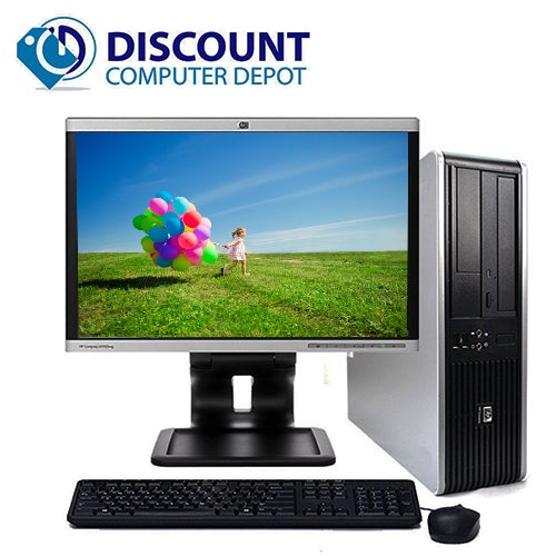 "Fast Hp Windows 10 Desktop PC Bundle with a Dual Core Processor, 4GB of Ram, a 160GB Hard Drive, 17"" LCD, Wifi Adapter, Keyboard and Mouse"
