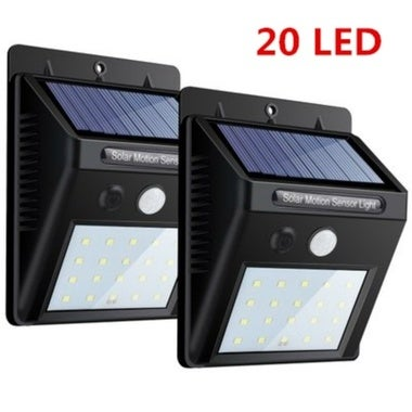20 LED 1pcs Solar Powered PIR Motion Waterproof Outdoor Garden Sensor Light Secu