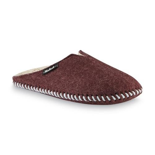 Woolrich Women's Felt Mill Scuff Slipper, with Traction Pods on Sole, Color Red