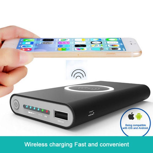 10000mAh QI Power Bank DIY Fast Wirelees Charger For iPhone Samsung iOS Android