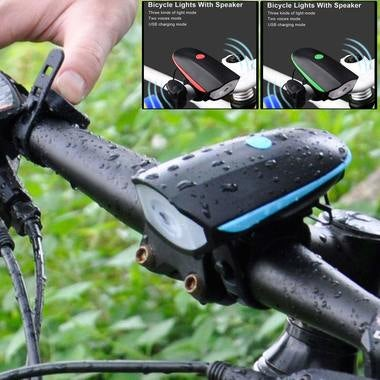 Hot USB Rechargeable CREE XPG Bike Bycicle LED Lamp Electric Horn Speaker Cyclin