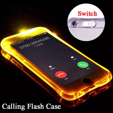 CN LED Lightning Flash TPU Case for iPhone 5/5S/SE/6/6S/6 Plus/6S Plus/7/7 Plus