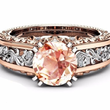 14K Rose Gold-plated gemstone Topaz Ring