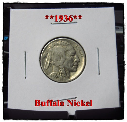 ★★★1936★★★ 82 Years Old ★★★ Buffalo Nickel  - Rare and Authentic - Full Date