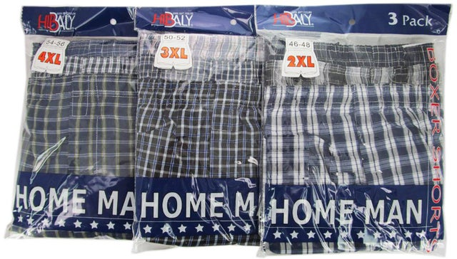 Ddi Homeman Men's 3pc/pack Boxer Short-3xlarge (pack Of 60)