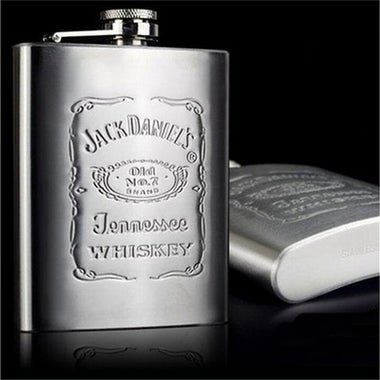 7oz Liquor Whiskey Stainless Steel Pocket Hip Flask Screw Cap With Funnel