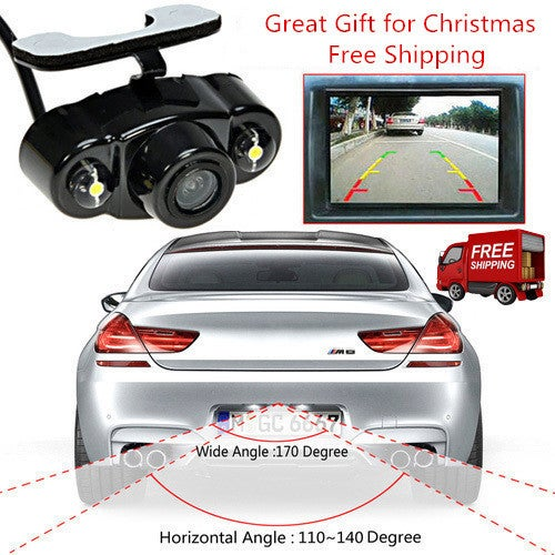 Free Shipping Waterproof Night Vision CMOS 170º Car CCD Rear View Reverse Backup Parking Camera