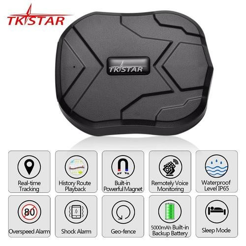 New GPS Tracker with Strong Magnet for Car/Vehicle/Van Truck Fleet Management GPS Locator Realtime Accurate Location Device Waterproof 90 Days Long Standby Remove Alarm Free Tracking Platform TK905