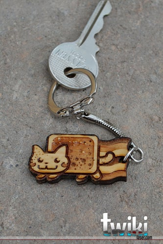 Any Geek Wood Keyring Of Your Choice Choose Model O Tophatter