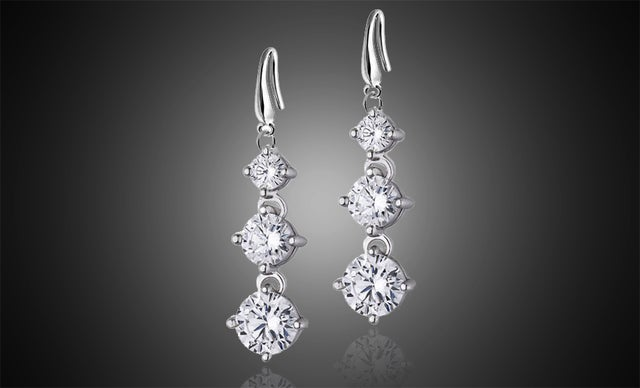 Stunning 18k Gold Plated Austrian Crystal Earings