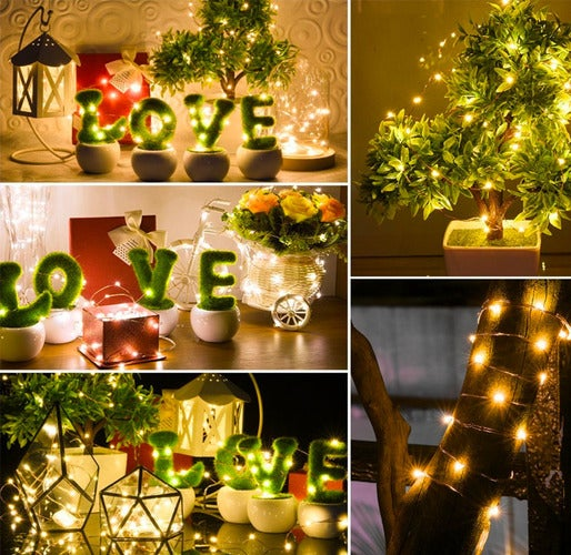 Christmas decorative lights 2M 20LED Warm White AA battery operate micro copper silver wire fairy Starry