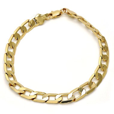 Thick 8mm Cuban Link Bracelet 09 Inches, Gold Filled!!! , Tarnish-Resistant (FJ2