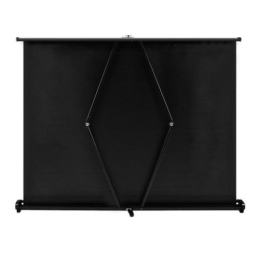 40-inch HD Projection Screen Manual Pull Up Folding Tabletop Projecting Screen Aspect Ratio 4:3 Portable Projection Screen for DLP Projector Handheld Projector