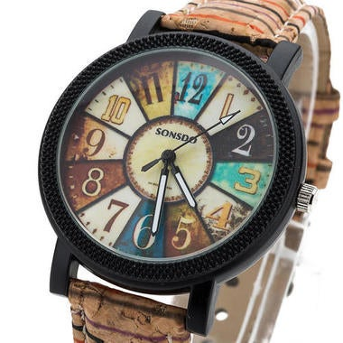 Lovely Relogio Feminino Vintage Leather Women Watch