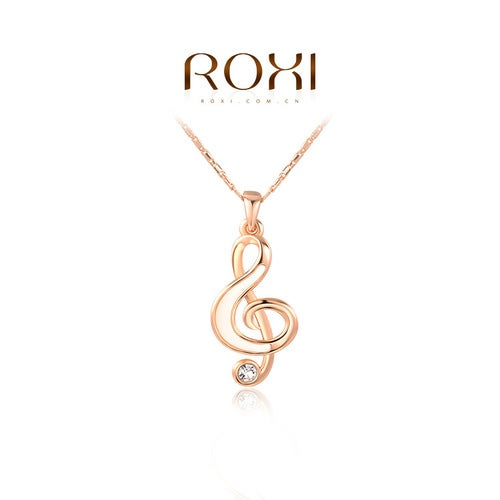 Music design with Genuine Austrian Crystal necklace