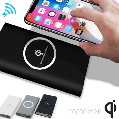 Portable QI Wireless Charger Battery Power Bank for Samsung S8 iPhone X 8 Plus 10000MaH