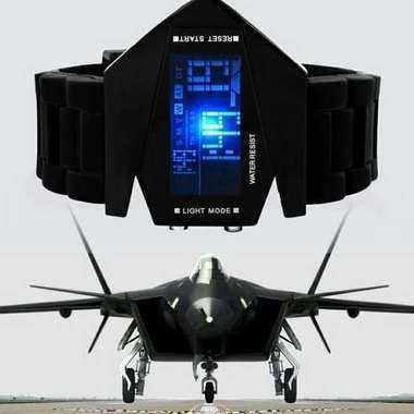 LED Electronic Aircraft Watch(Balck,pay for best)