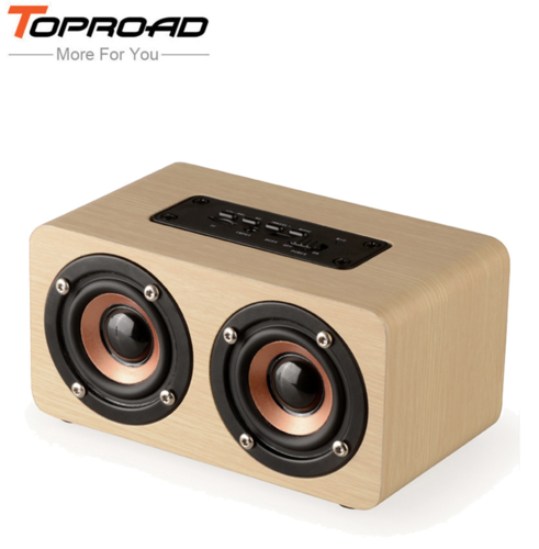 Wireless Bluetooth Speaker Wood Portable Audio HiFi Home Theatre Sound Receiver Stereo Music Subwoofer Computer Speakers