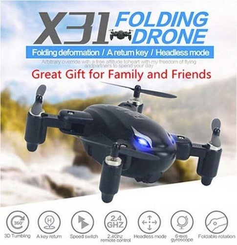 Great Gift for Christmas SY X31 With Foldable Arm Mini 2.4G 4CH Headless Mode RC Quadcopter RTF