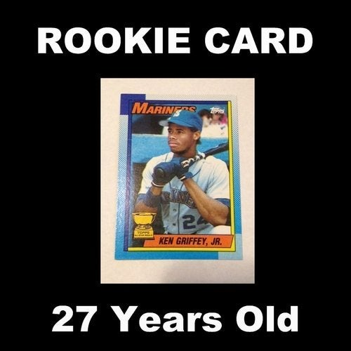 Authentic 1990 Topps Ken Griffey Jr Rookie Card 336