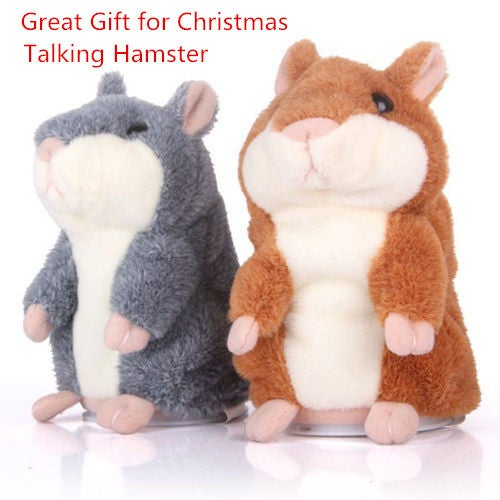 Great Gift for Christmas Lovely Talking Hamster Plush Toy Hot Cute Speak Talking Sound Record Toy-Great Gift for Family