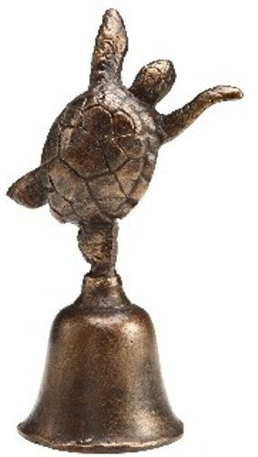 Coastal Sea Turtle Hand Held Tabletop Cast Iron Bell