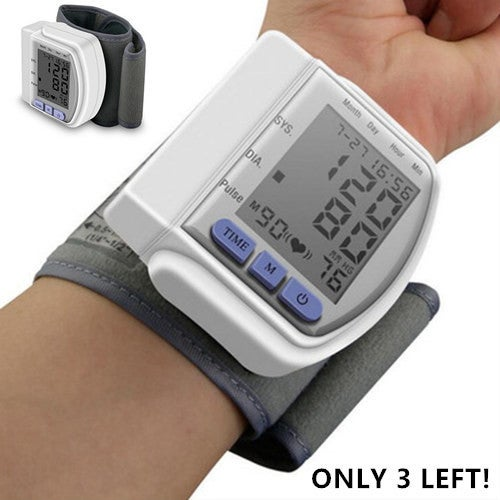 Hot Sell Healthsweet Home Automatic Digital LCD Wrist Watch Blood Pressure Monitor Sphygmomanometer Heart Beat Rate